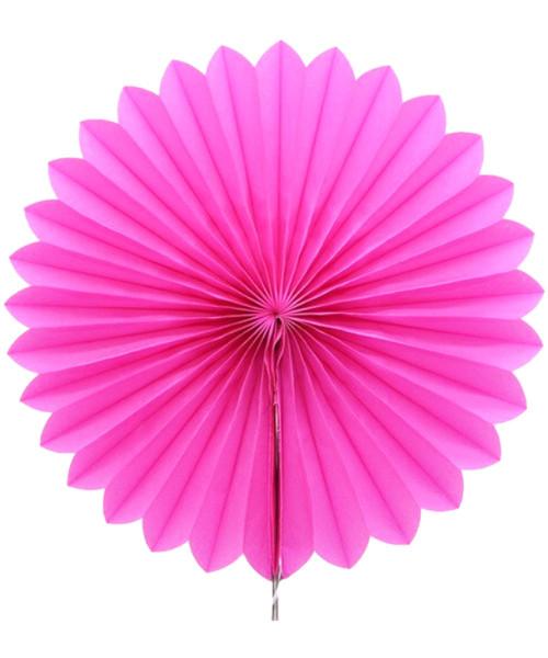 Paper Flower Fan (25cm) - Hot Pink