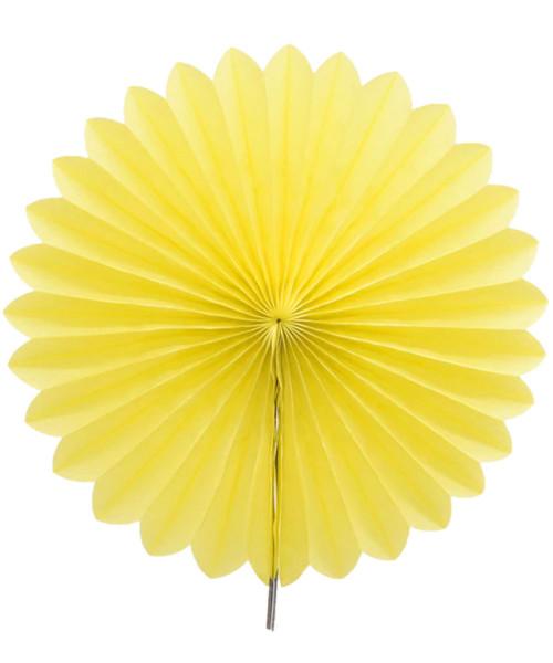 Paper Flower Fan (25cm) - Yellow