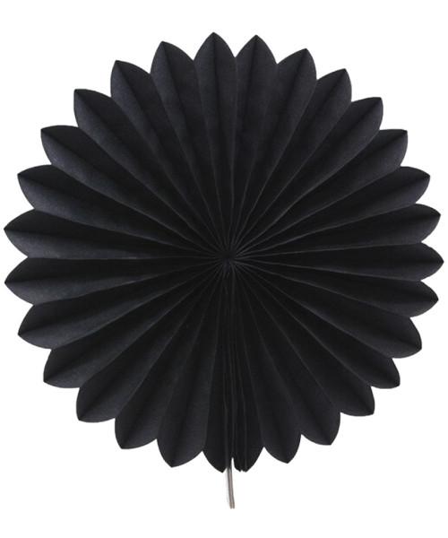 Paper Flower Fan (25cm) - Black