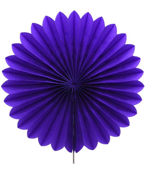 Paper Flower Fan (35cm) - Dark Purple