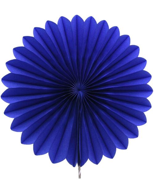 Paper Flower Fan (35cm) - Royal Blue
