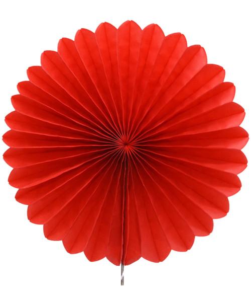 Paper Flower Fan (35cm) - Red