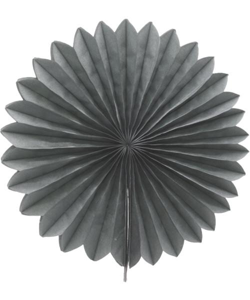 Paper Flower Fan (35cm) - Grey