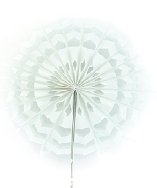Paper Snowflake Fan (20cm) - White