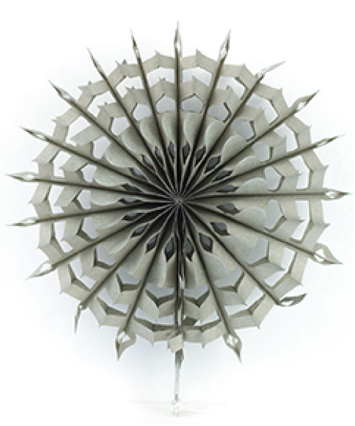 Paper Snowflake Fan (20cm) - Grey