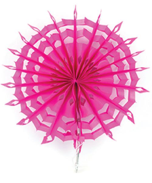 Paper Snowflake Fan (20cm) - Hot Pink