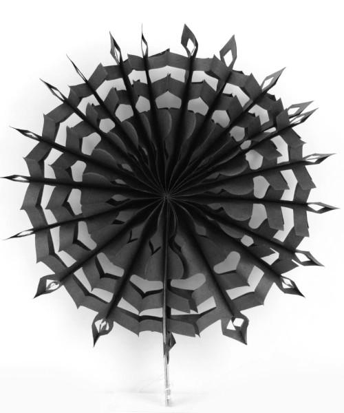 Paper Snowflake Fan (30cm) - Black