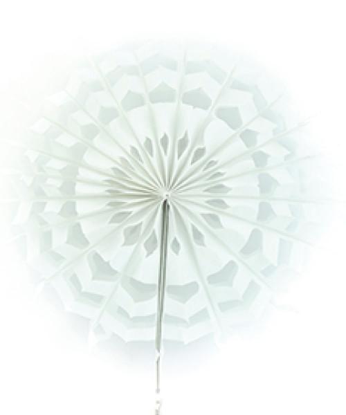 Paper Snowflake Fan (30cm) - White