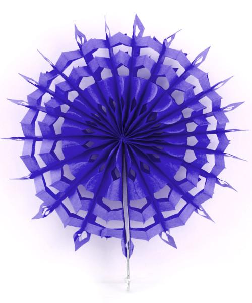 Paper Snowflake Fans (30cm) - Dark Purple