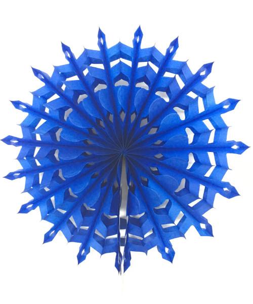 Paper Snowflake Fan (30cm) - Royal Blue