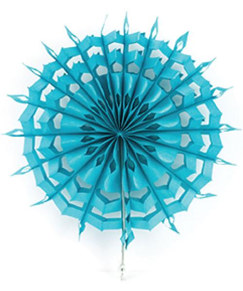 Paper Snowflake Fan (30cm) - Turquoise