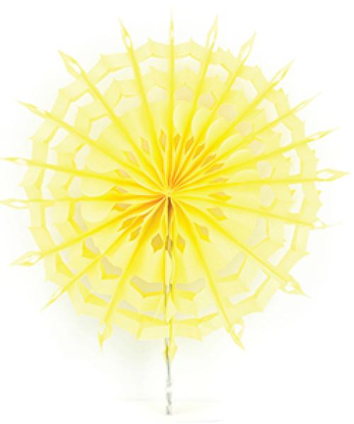 Paper Snowflake Fan (30cm) - Yellow