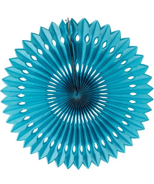 Paper Pinwheel Fan (30cm) - Sky Blue