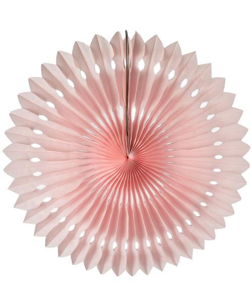 Paper Pinwheel Fans (30cm) - Light Pink