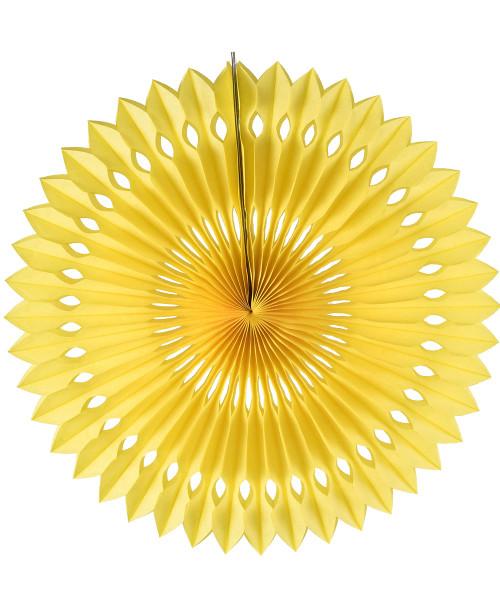 Paper Pinwheel Fan (30cm) - Yellow