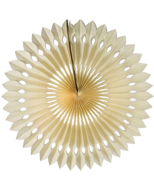 Paper Pinwheel Fan (30cm) - Cream