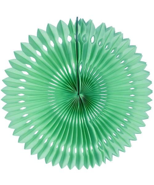 Paper Pinwheel Fans (30cm) - Mint