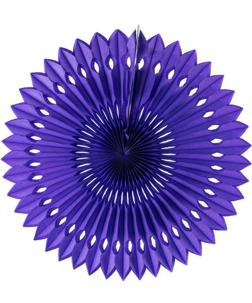 Paper Pinwheel Fan (30cm) - Dark Purple