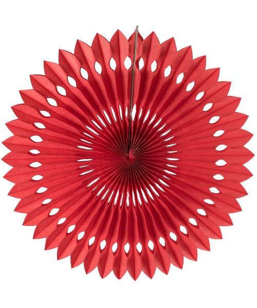 Paper Pinwheel Fan (30cm) - Red