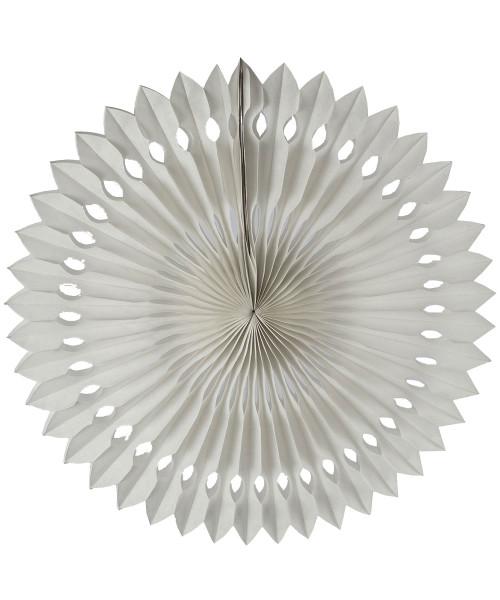 Paper Pinwheel Fan (30cm) - White