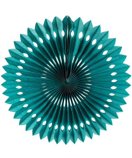 Paper Pinwheel Fan (30cm) - Turquoise