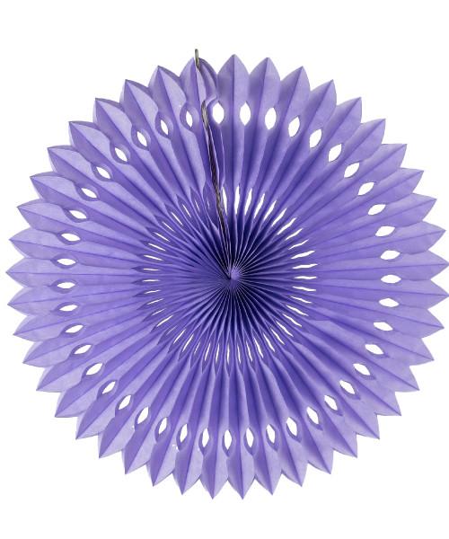 Paper Pinwheel Fan (30cm) - Lavender Purple
