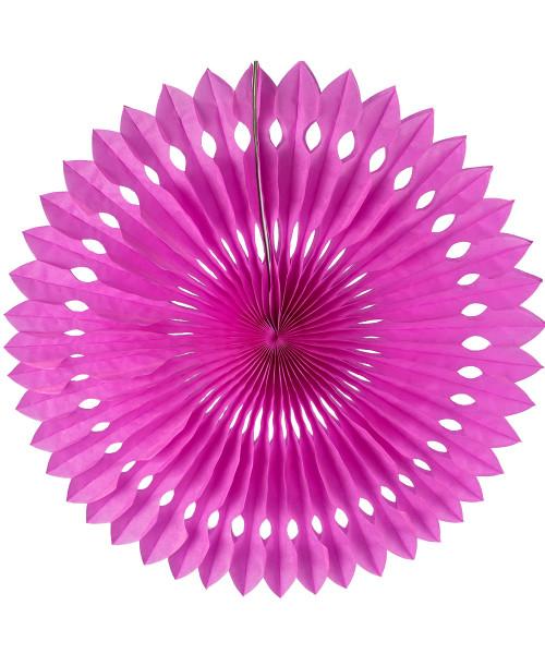 Paper Pinwheel Fan (30cm) - Hot Pink