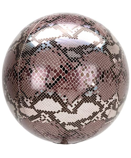 "16""/40cm Orbz Sphere Shaped Balloon - Snake Skin Print (A42111)"