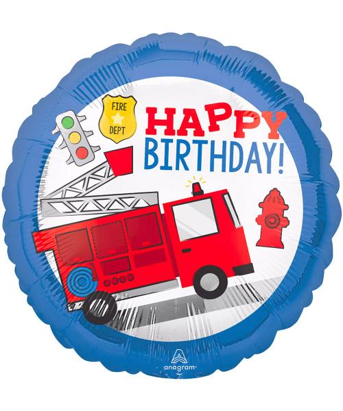 [Transportation] First Responder Happy Birthday Foil Balloon (17inch) (A42804)