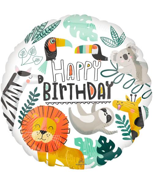 [Animal] Get Wild Birthday Foil Balloon (17inch) (A42877)