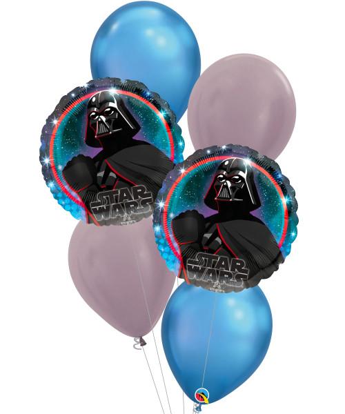 [Star Wars] Star Wars Galaxy Darth Vader Chrome Balloons Bouquet