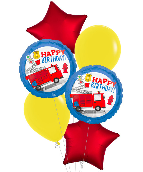 [Transportation] First Responder Happy Birthday Balloons Bouquet