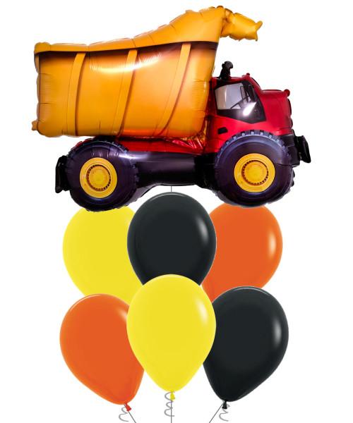 [Transportation] Dump Truck Balloons Bouquet
