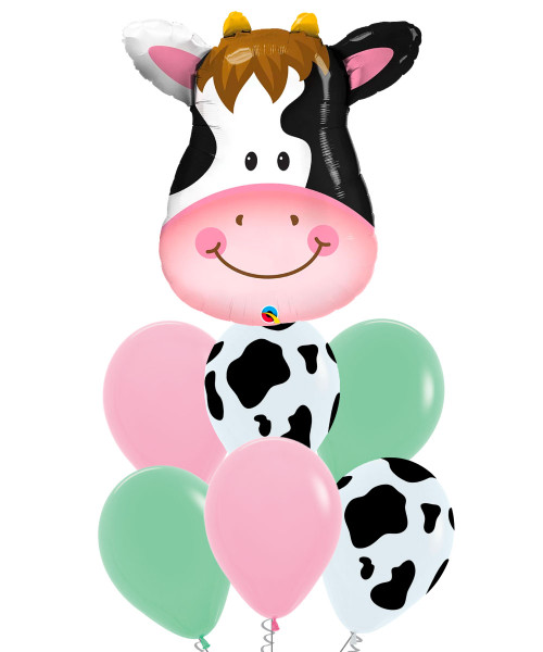 [Animal] Contented Cow Balloons Bouquet