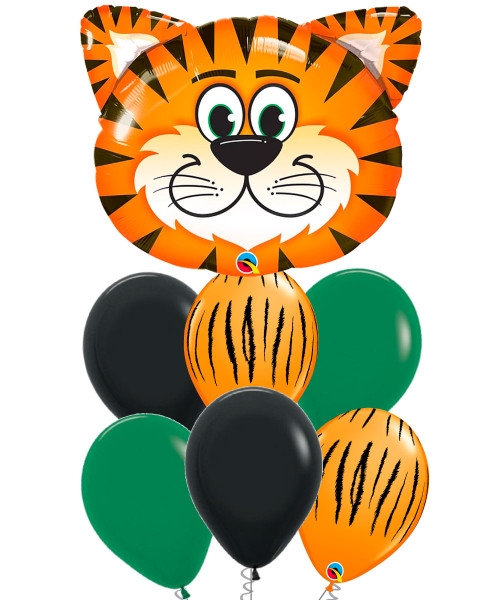 [Animal] Tickled Tiger Balloons Bouquet