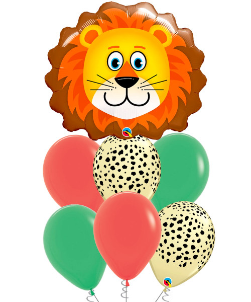 [Animal] Loveable Lion Balloons Bouquet
