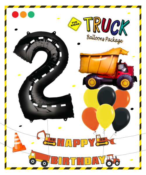 Truck Theme Balloons Package