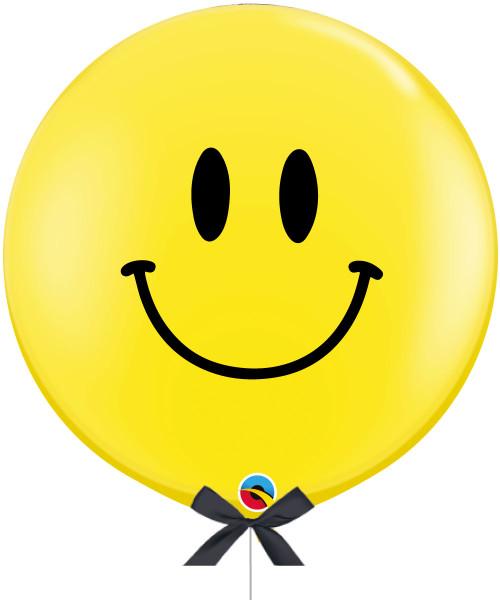 "[Party] 36"" Jumbo Perfect Round Smiley Face Balloon"