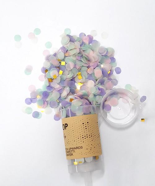 Confetti Party Popper (18cm) - Taro Mint