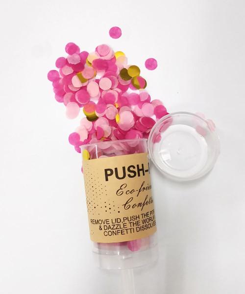 Confetti Party Popper (18cm) - Raspberry