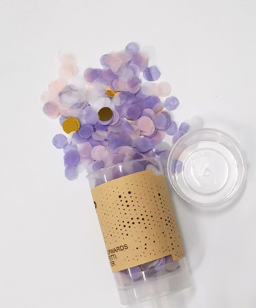 Confetti Party Popper (18cm) - Lilac Crystal