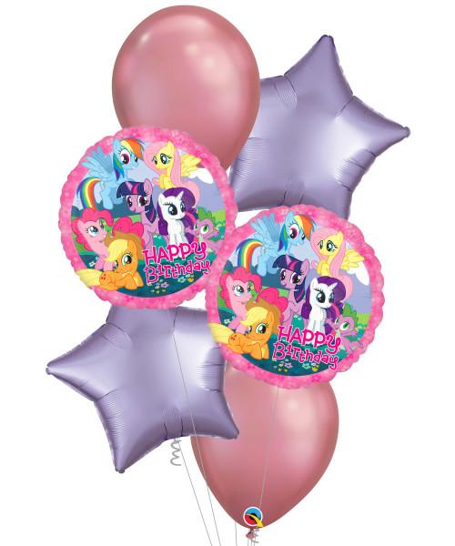 [My Little Pony] My Little Pony Happy Birthday Chrome Balloons Bouquet