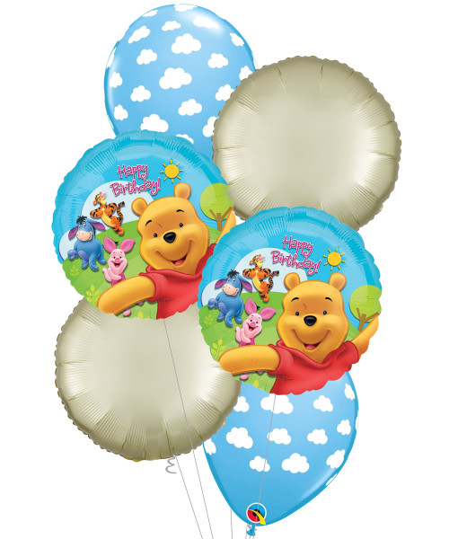 [Winnie The Pooh] Pooh & Friends Sunny Birthday Balloons Bouquet