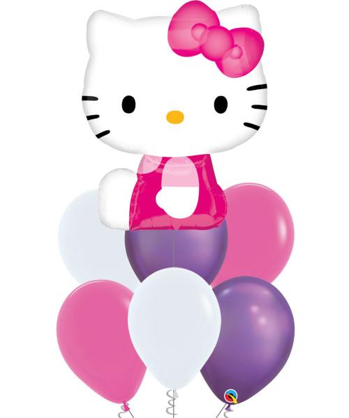 [Hello Kitty] Hello Kitty Pink & Chrome Purple Balloons Bouquet