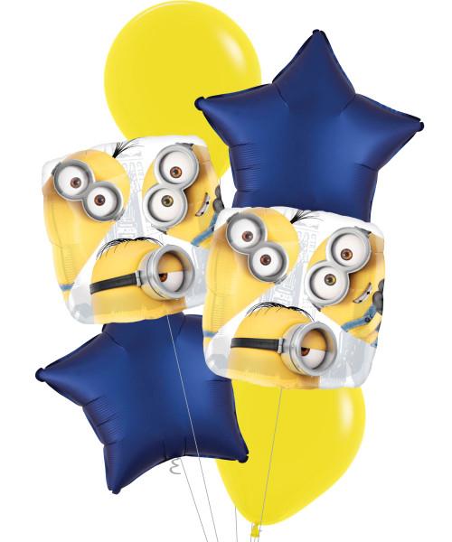 [Minion] Despicable Me Group Star Balloons Bouquet