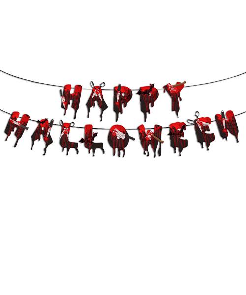 [Halloween] Bloody Splatter Bunting (3 meter) - Happy Halloween