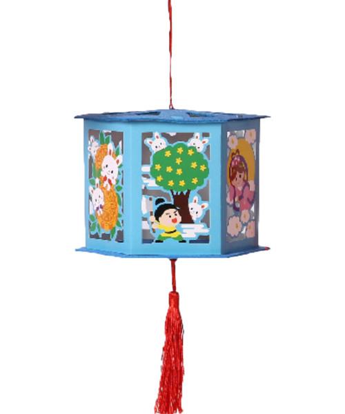 Mid-Autumn Festival LED Paper Lantern (46cm) DIY Pack - 嫦娥奔月