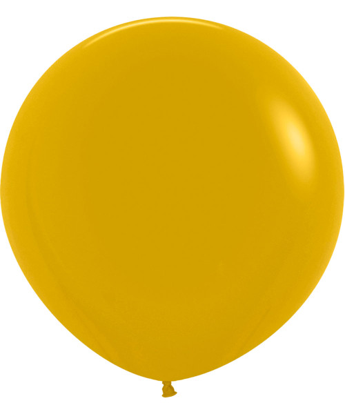 "24"" Fashion Color Round Latex Balloon - Mustard"