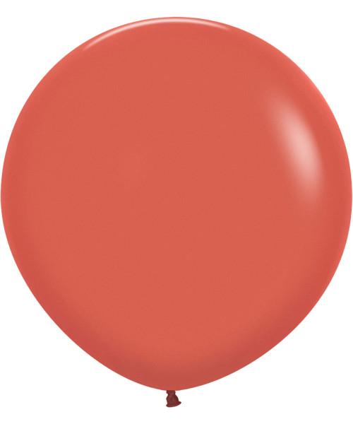 "24"" Fashion Color Round Latex Balloon - Terracotta"
