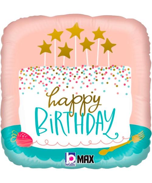[Birthday] Birthday Confetti Cake Foil Balloon (18inch) (B26118P)